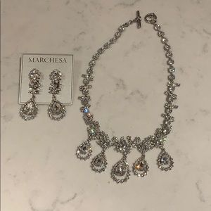 Marchesa Hanging Earrings and Neckless Set